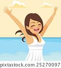 Free Woman Beach 25270097