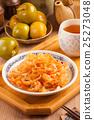 Chinese seafood cuisine. Jellyfish salad  25273048