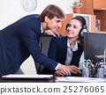 two happy help line operators 25276065