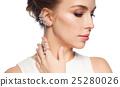 woman, jewelry, earring 25280026