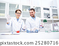 young scientists making test or research in lab 25280716