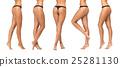 female legs and bottom in black bikini panties 25281130