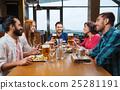 friends, restaurant, dinner 25281191