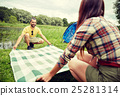 couple, blanket, picnic 25281314