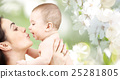 happy mother kissing adorable baby 25281805