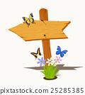 Wooden signboard  25285385