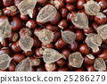 Dried Fruits of the Cape Gooseberry and Chestnuts 25286279