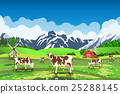 farm, cow, vector 25288145