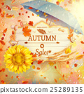 Background on a theme of autumn. Sale. EPS 10 25289135
