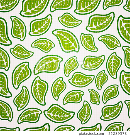 seamless pattern of leaves 25289578