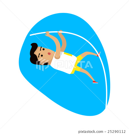 Athlete Performing a Pole Vault, Sports Icon 25290112