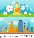 Set of Thailand Travel Poster 25290291