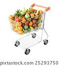 cart fruit shopping 25293750