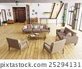 Interior of living room 3d rendering 25294131