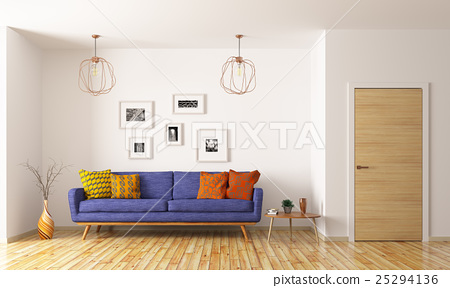 Living room interior 3d rendering 25294136