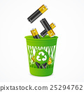 Recycling Battery Concept. Vector 25294762