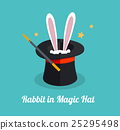 Vector rabbit in magic hat  25295498
