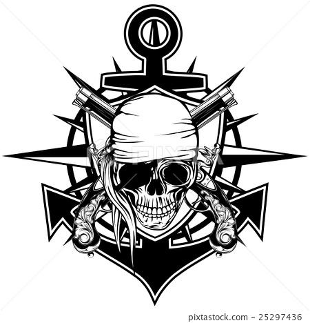 Pirate emblem skull 25297436