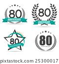 anniversary, 80, vector 25300017
