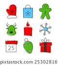 Christmas icon set 25302816