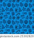 Christmas icon set seamless pattern 25302820