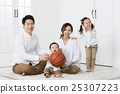A portrait of a Happy Asian Family 25307223