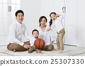 A portrait of a Happy Asian Family 25307330