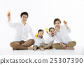 A portrait of a Happy Asian Family 25307390