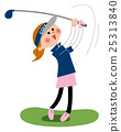 高爾夫 高爾夫球手 揮棒 25313840