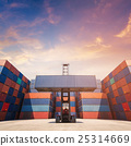 Forklift truck lifting Cargo containers 25314669