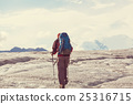 Hiker on glacier 25316715