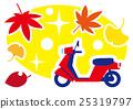 autumn, autumnal, scooter 25319797