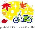 autumn, autumnal, scooter 25319807