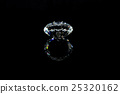 diamond on black background 25320162
