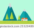 Mountains Landscape in Flat. 25320489