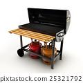 BBQ Grill on white background 25321792