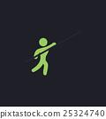 Pole vault computer symbol 25324740