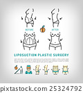 Liposuction Body Plastic Surgery thin line art 25324792
