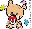 cute baby bear illustration 25324994