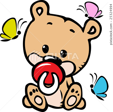 cute baby bear illustration 25324994