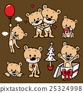 cute bear family cartoon 25324998
