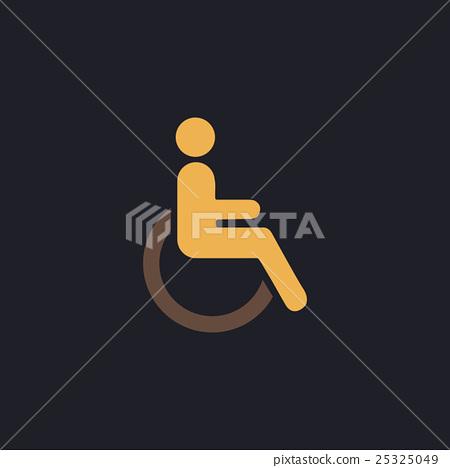 Disabled computer symbol 25325049