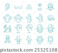 Plastic surgery icons: breast augmentation 25325108