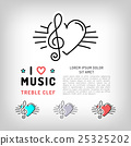 treble clef note 25325202