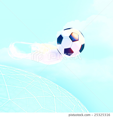Stock Illustration: Concept, or, conceptual, soccer, ball