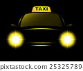 taxi, cab, dark 25325789