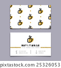 Nutritionist business card, dietitian, Trendy 25326053