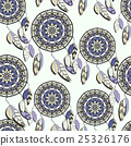 Seamless pattern with hand drawn dreamcatchers 25326176