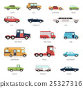 Flat Collection Of Different Car Models 25327316