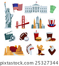 USA Flat Icons Set 25327344